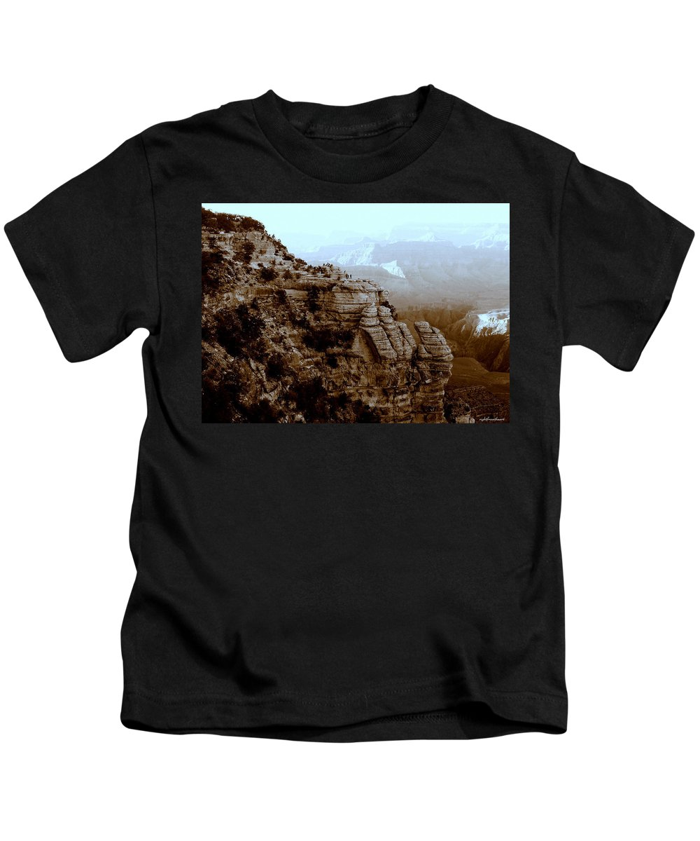 Landscape Kids T-Shirt featuring the photograph Tiny People by Bob and Kathy Frank