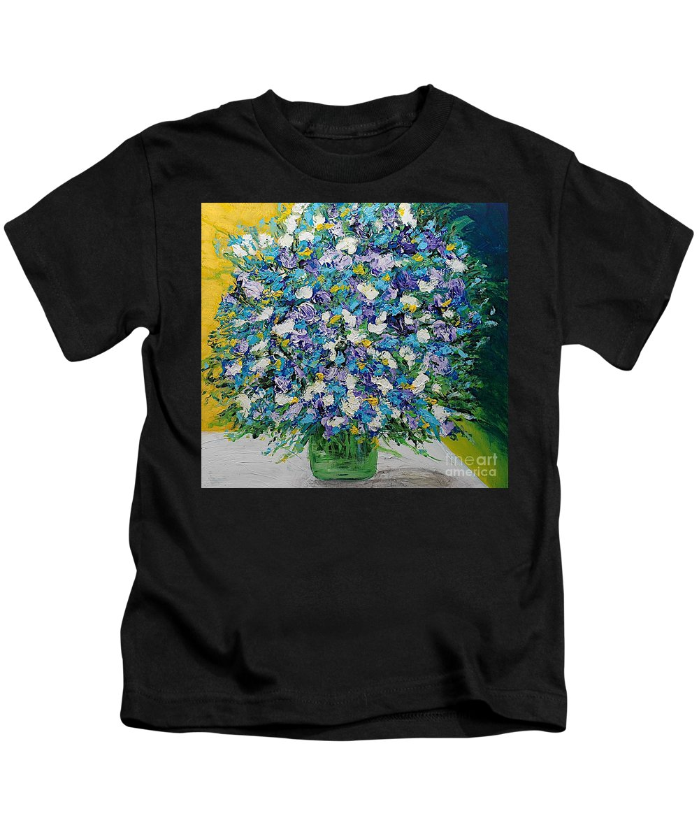 Landscape Kids T-Shirt featuring the painting To Have And Delight by Allan P Friedlander