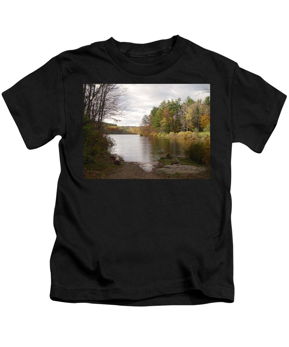 Kids T-Shirt featuring the photograph Tomorrow I Bring My Chair by Brian S Boucher