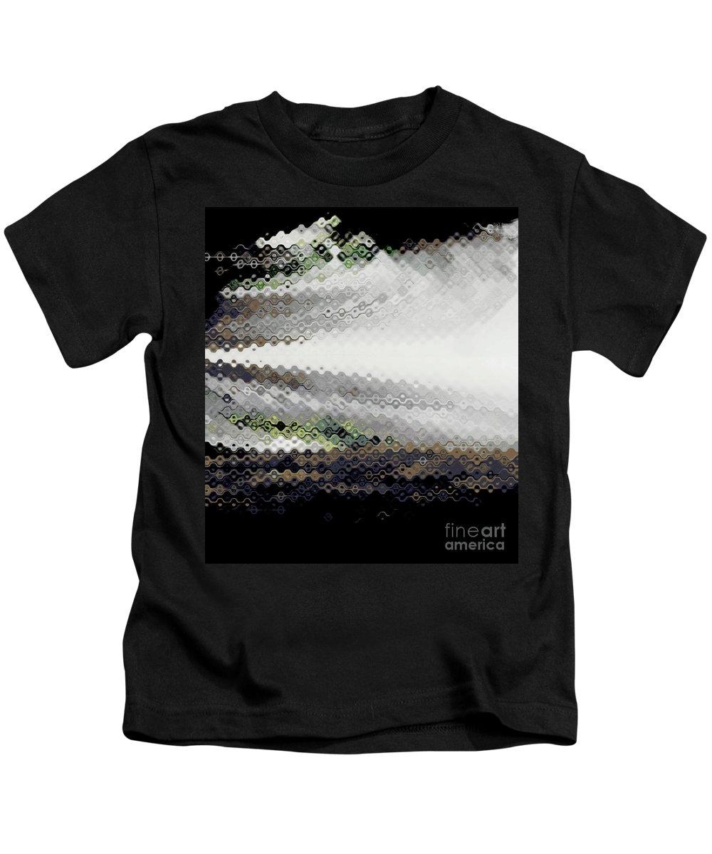 tom's Studio Kids T-Shirt featuring the digital art Toms Studio by Amanda Barcon