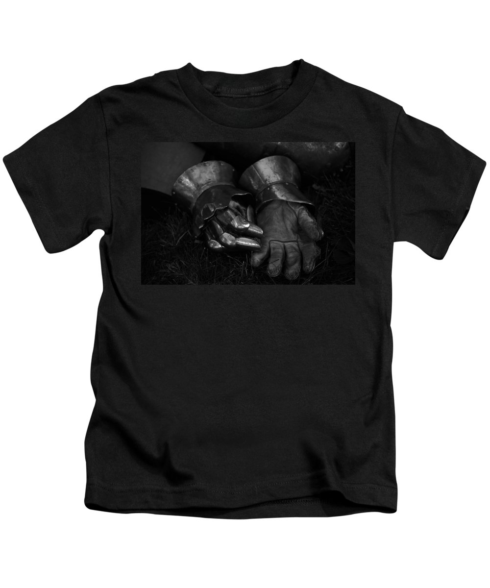 Knight Kids T-Shirt featuring the photograph Tossing The Gauntlet by Whispering Peaks Photography