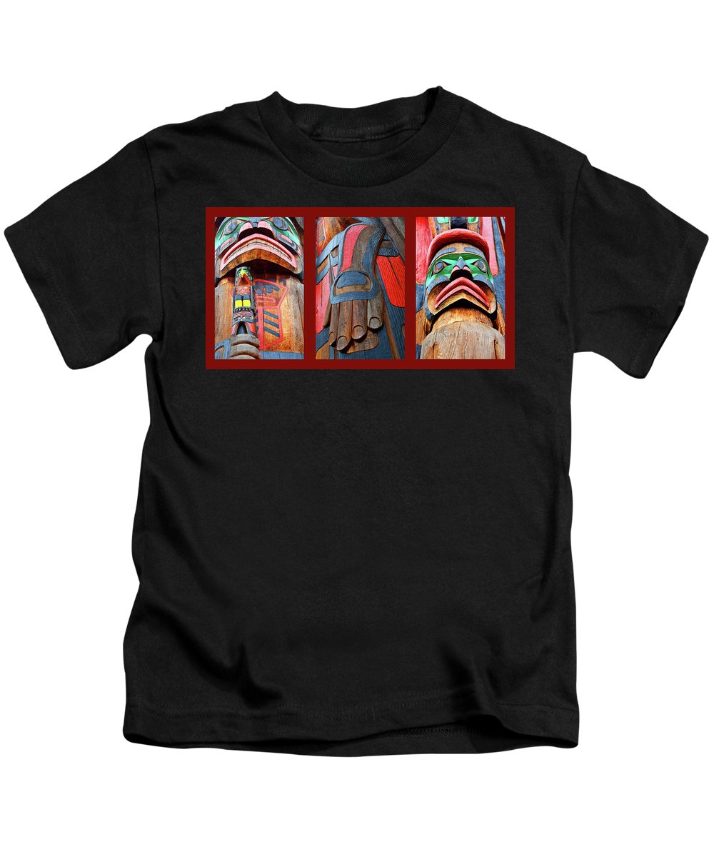 Native American Kids T-Shirt featuring the photograph Totem 3 by Theresa Tahara