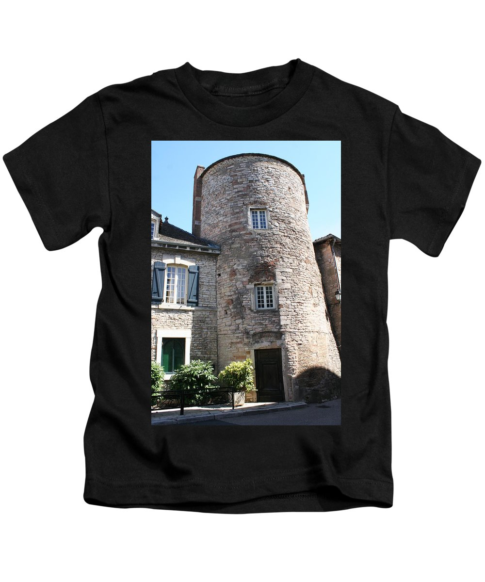 City Wall Kids T-Shirt featuring the photograph Tournus Village by Christiane Schulze Art And Photography