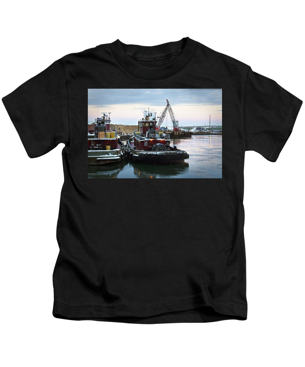 Town Point Kids T-Shirt featuring the photograph Town Point by Eric Gendron
