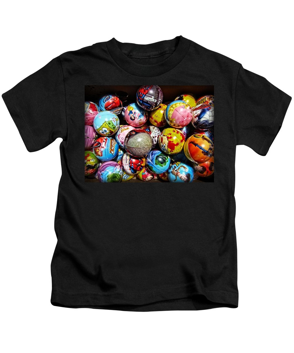 Toys Kids T-Shirt featuring the photograph Toy Balls by Alice Gipson