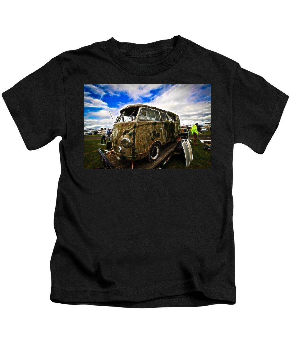 Vw Kids T-Shirt featuring the photograph Trailer Trash by Steve McKinzie