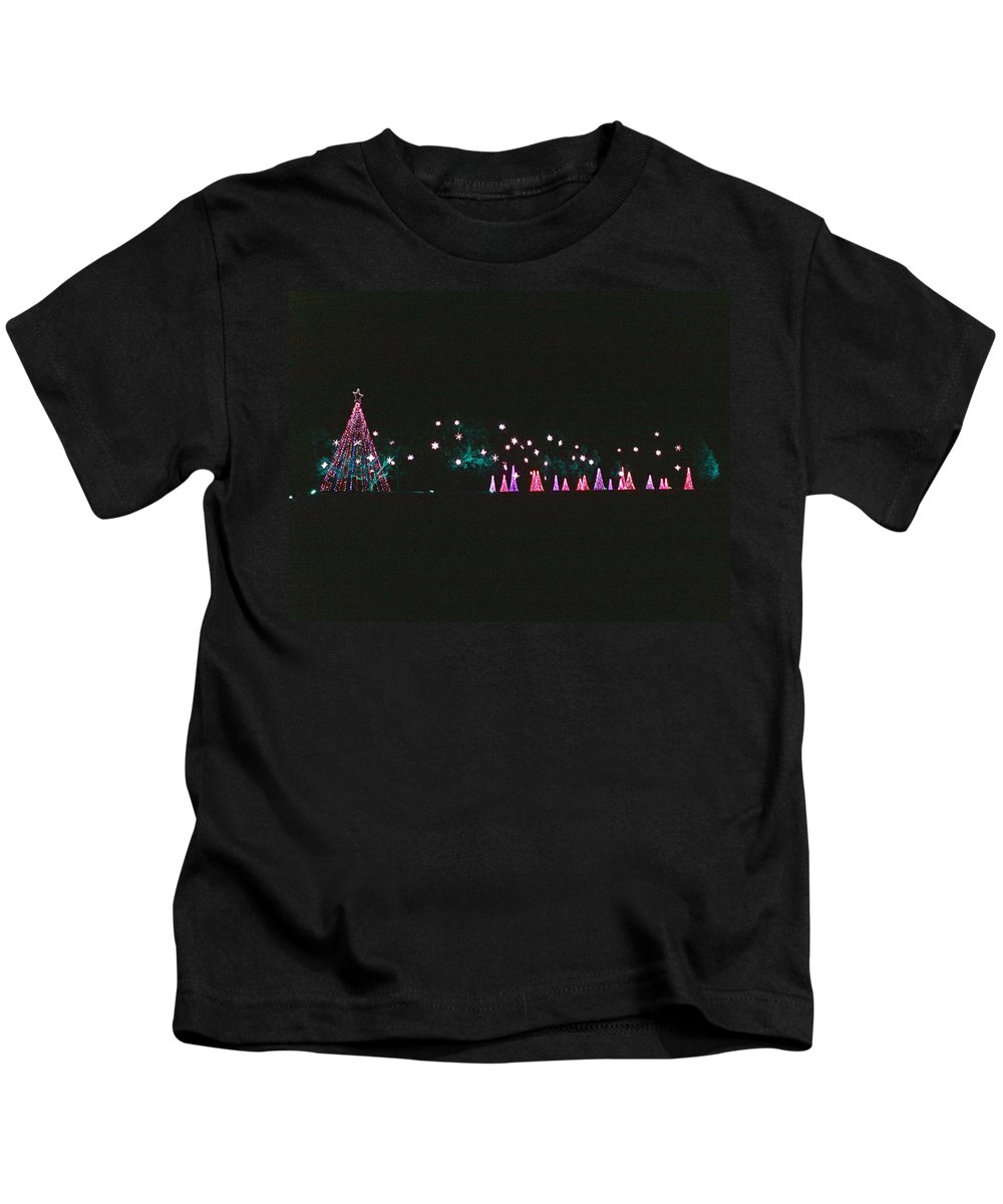 Christmas Trees Kids T-Shirt featuring the photograph Trailing Snowflakes by Marian Bell