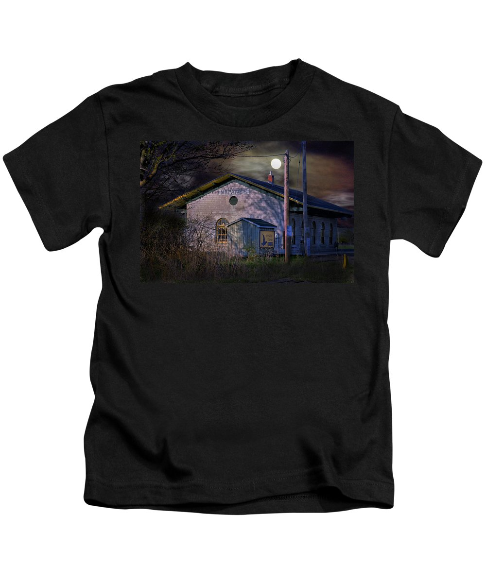 Kids T-Shirt featuring the photograph Train Station By Hmi Light by John Herzog