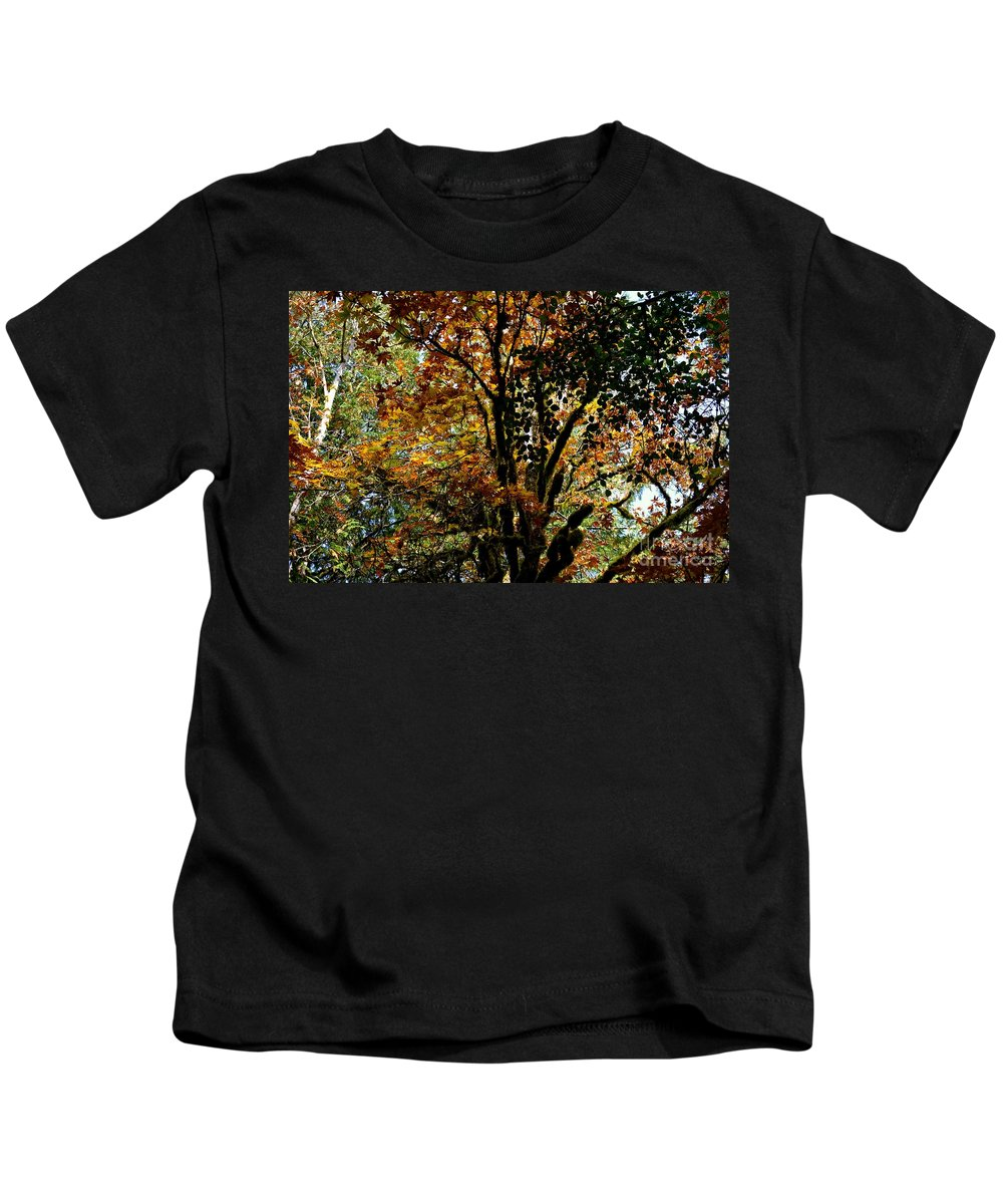 Trees Kids T-Shirt featuring the photograph Transition by Stephanie Bland
