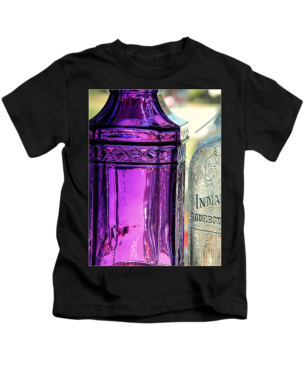 Bottles Kids T-Shirt featuring the photograph Transparency by Kathy Barney
