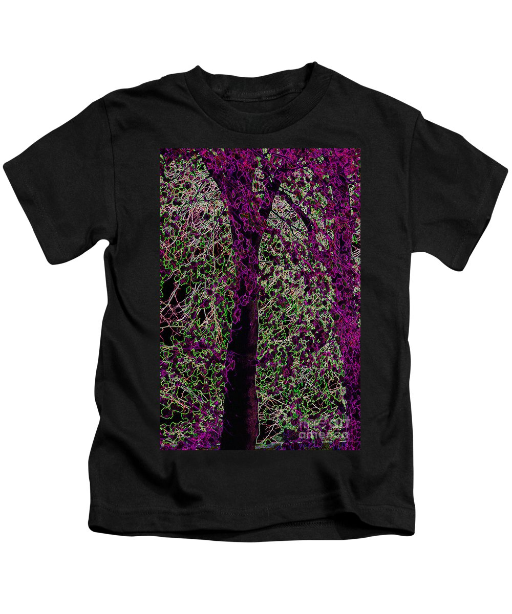 Purple Kids T-Shirt featuring the digital art Tree by Carol Lynch
