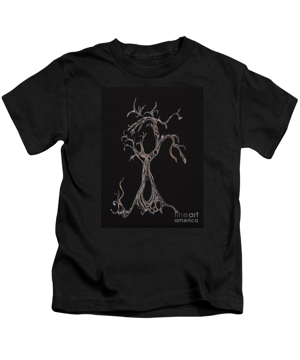 Tree Kids T-Shirt featuring the drawing Trees 4 by Christina Naman