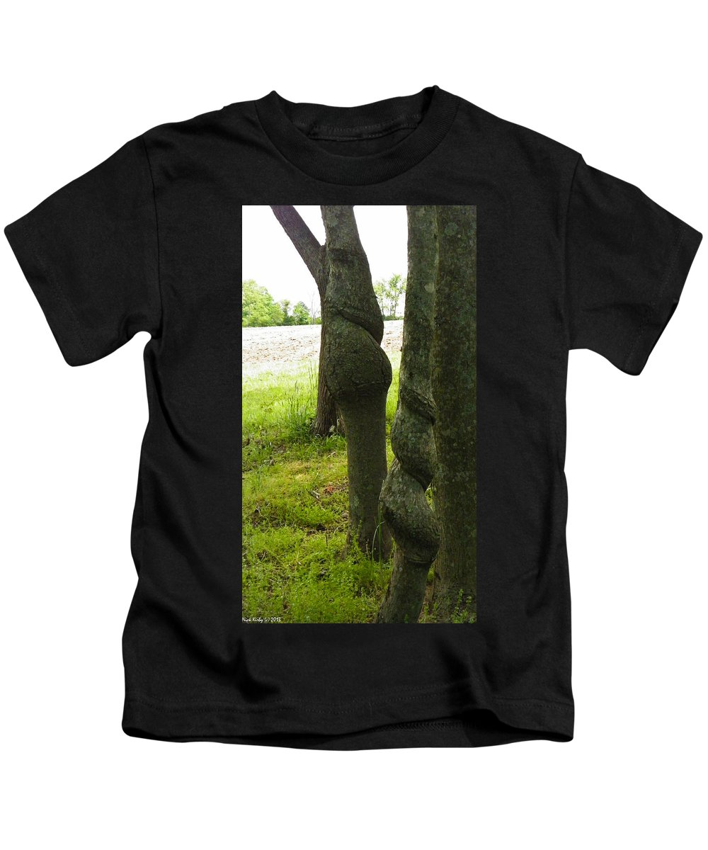 Twisted Kids T-Shirt featuring the photograph Trees With A Twist by Nick Kirby