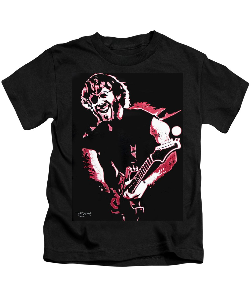 Phish Kids T-Shirt featuring the drawing Trey Anastasio In Pink by Joshua Morton