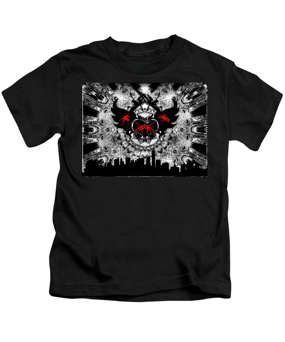 Trilogy Kids T-Shirt featuring the digital art Trilogy by Michael Damiani