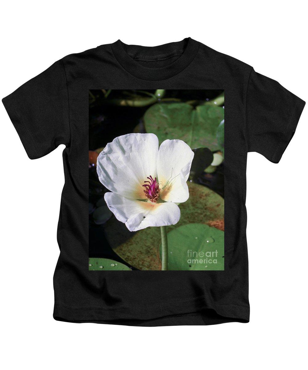 Brazil Kids T-Shirt featuring the digital art Tropical Flower by Carol Ailles