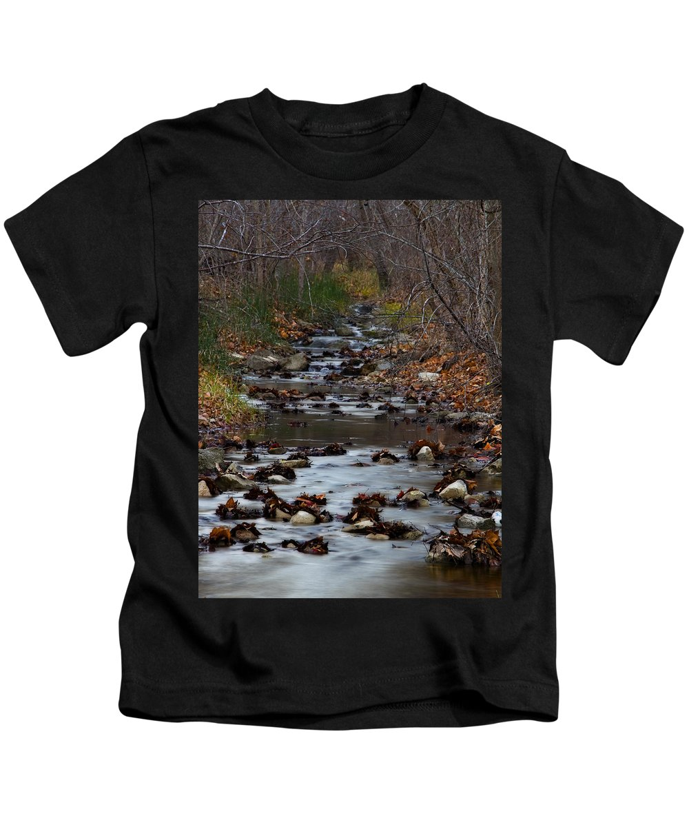 Stream Kids T-Shirt featuring the photograph Turner Falls Stream by Ricky Barnard