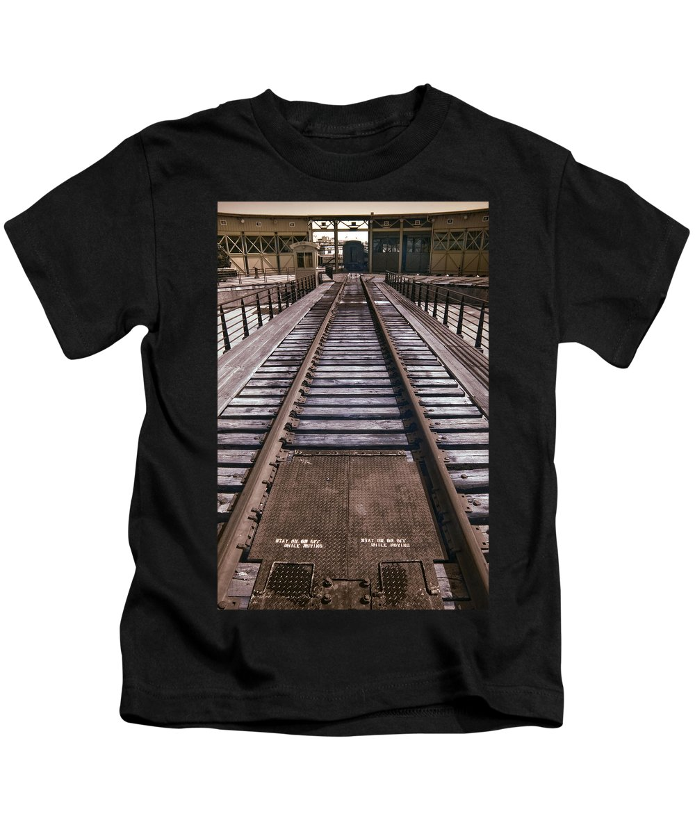 Historical Kids T-Shirt featuring the photograph Turntable Waiting by Paul W Faust - Impressions of Light