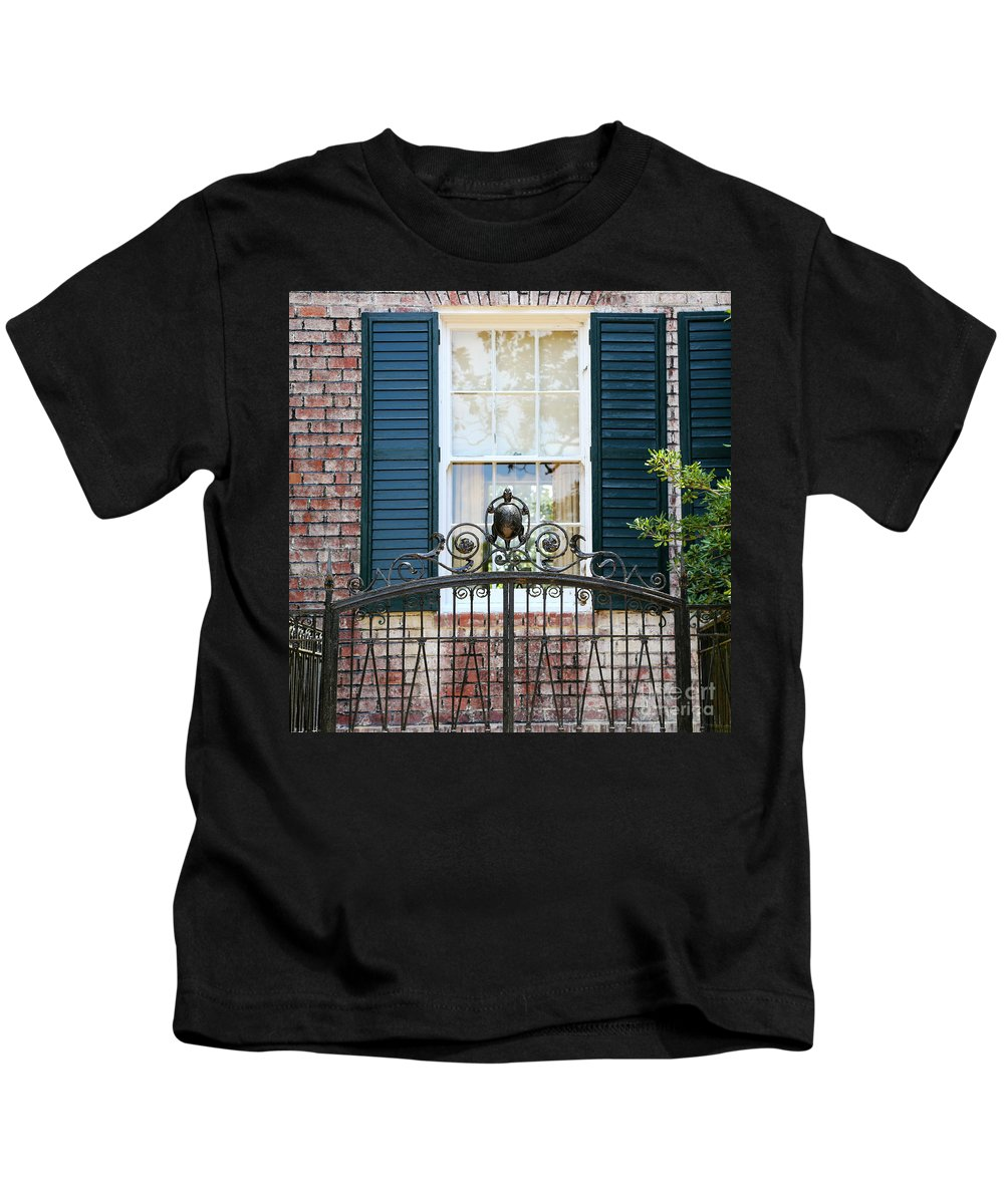 Southern Home Kids T-Shirt featuring the photograph Turtle Gate by Carol Groenen