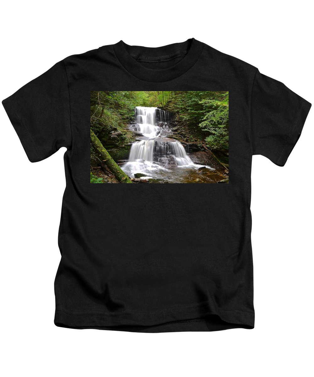 Waterfall Kids T-Shirt featuring the photograph Tuscarora Falls by Frozen in Time Fine Art Photography