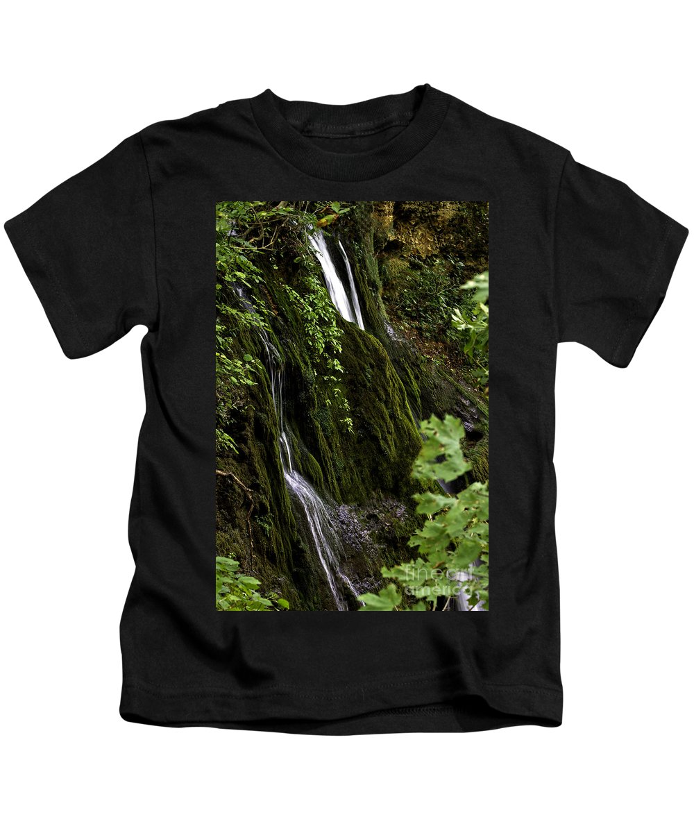Rural Kids T-Shirt featuring the photograph Twin Falls by Ken Frischkorn