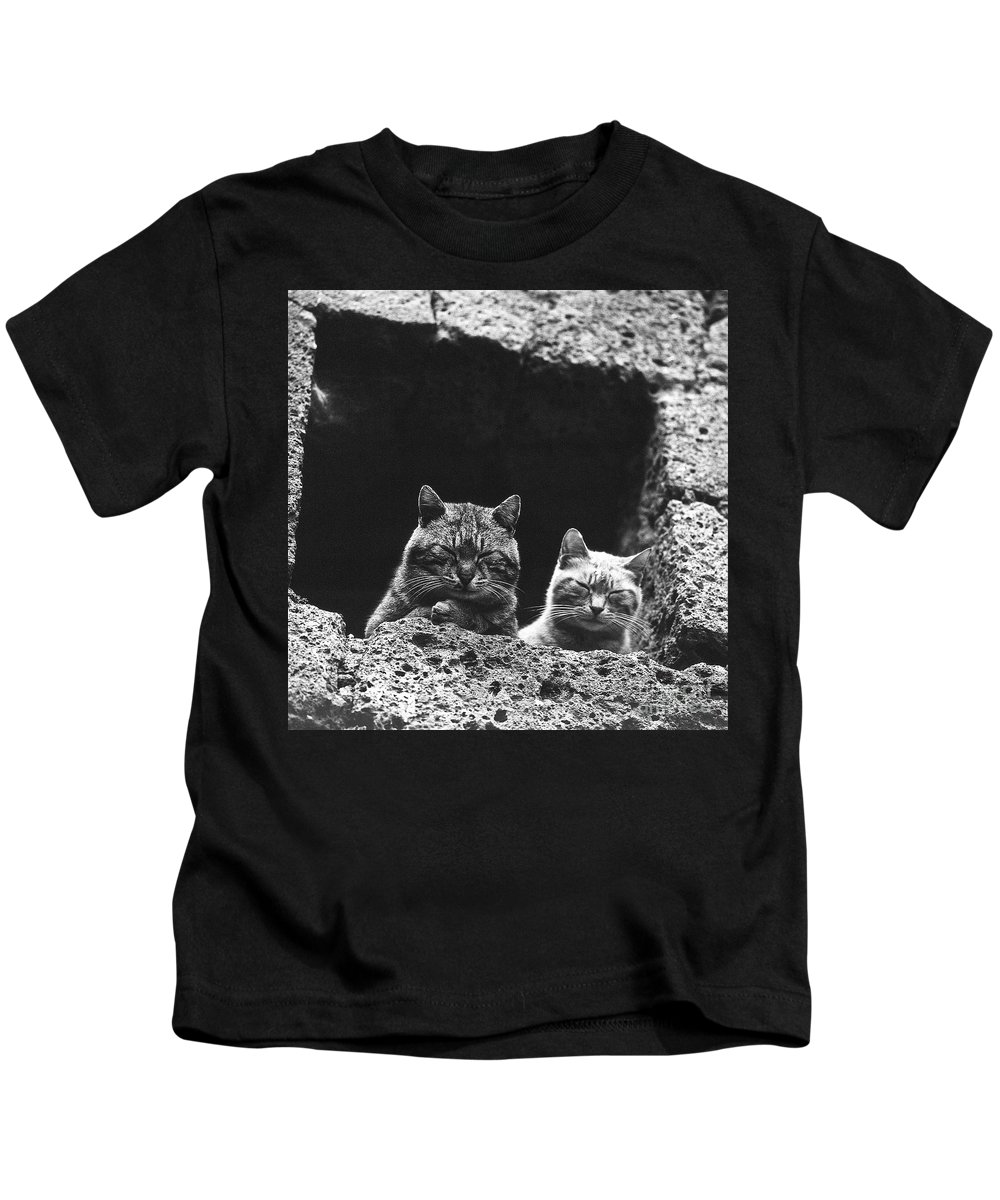 Nature Kids T-Shirt featuring the photograph Twins by Heiko Koehrer-Wagner