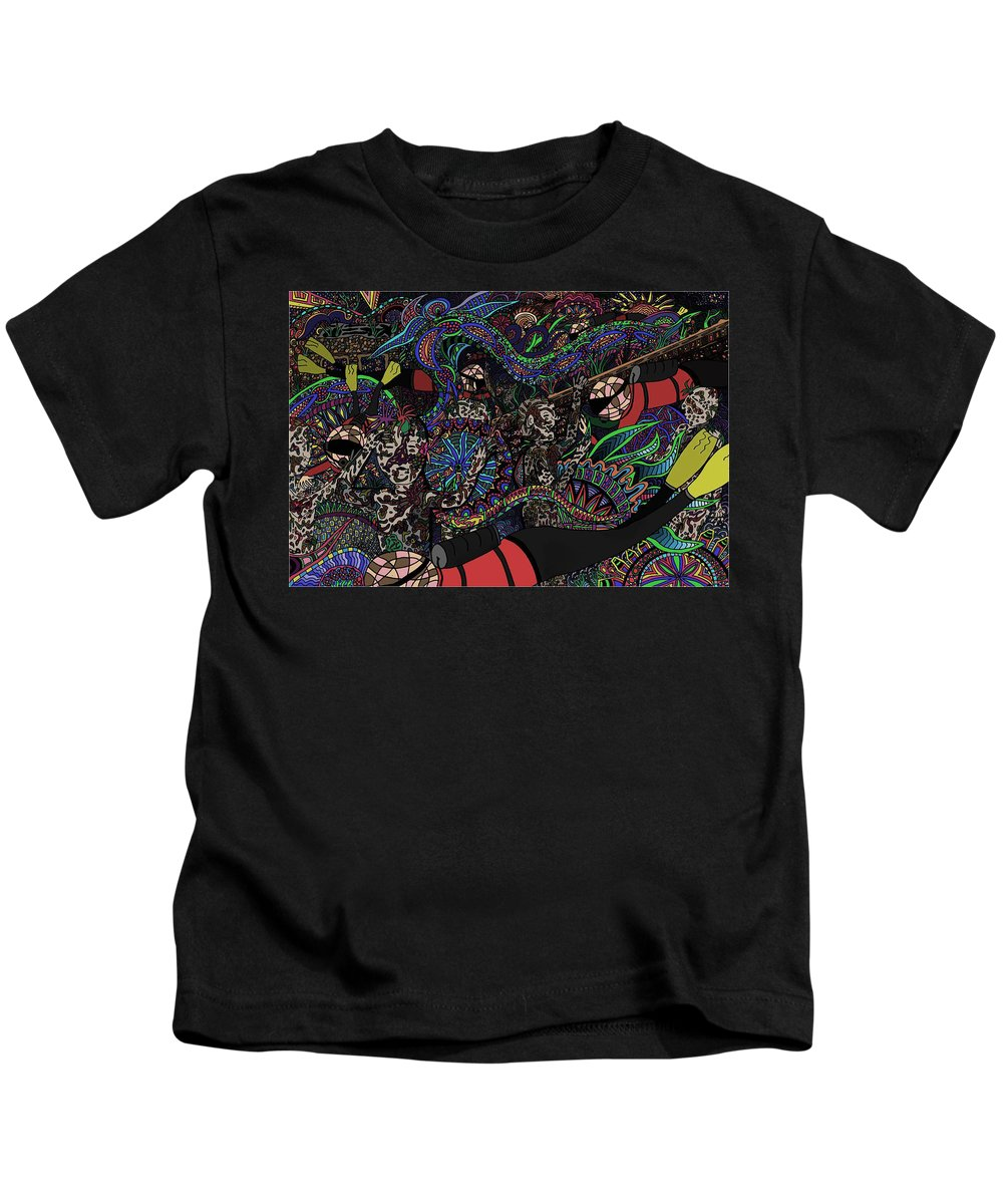 Sculptures Kids T-Shirt featuring the painting Underwater World by Karen Elzinga