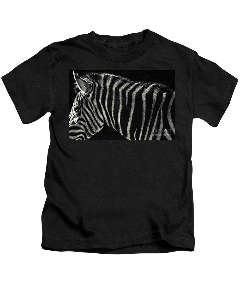 Zebra Kids T-Shirt featuring the photograph Unique Similarity by Andrew Paranavitana