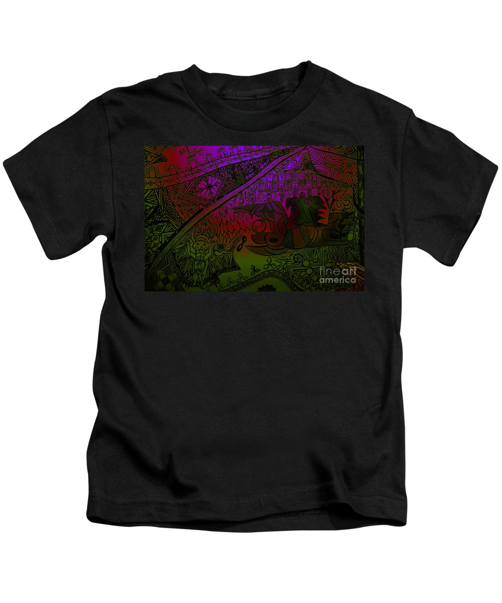 Tribal Kids T-Shirt featuring the digital art UP by Michelle S White