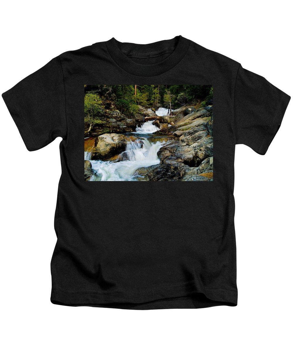 Cascade Creek Kids T-Shirt featuring the photograph Up The Creek by Bill Gallagher