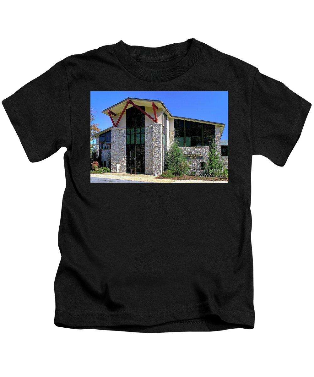 Blue Sky Kids T-Shirt featuring the photograph Upj Blackington Hall by John Waclo