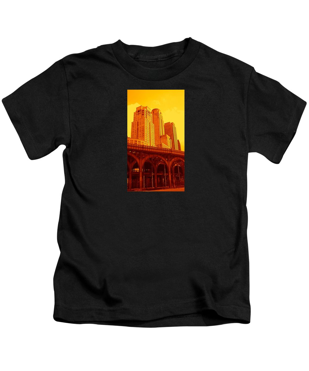 Manhattan Prints And Posters Kids T-Shirt featuring the photograph Upper West Side And Hudson River Manhattan by Monique's Fine Art
