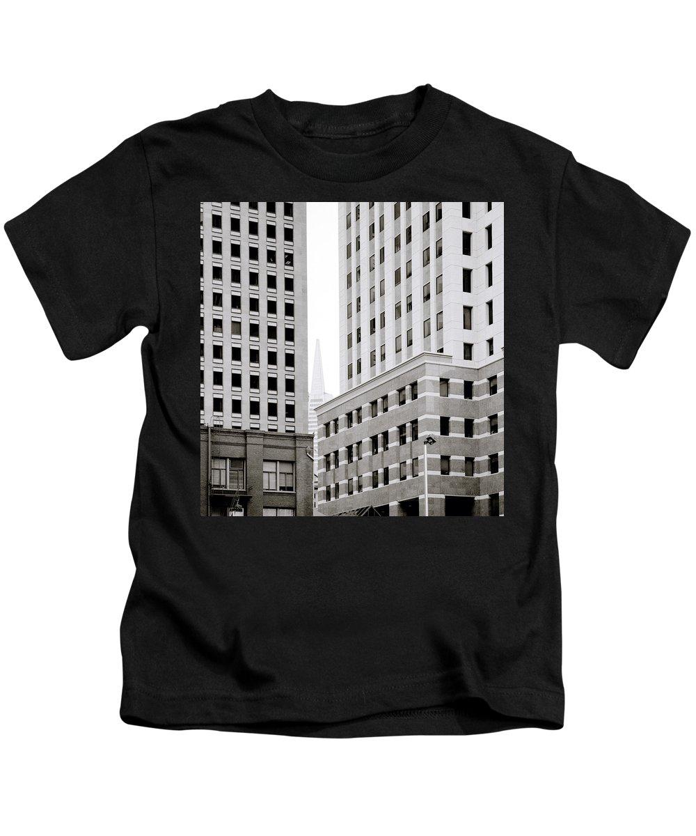 San Francisco Kids T-Shirt featuring the photograph Urban San Francisco by Shaun Higson