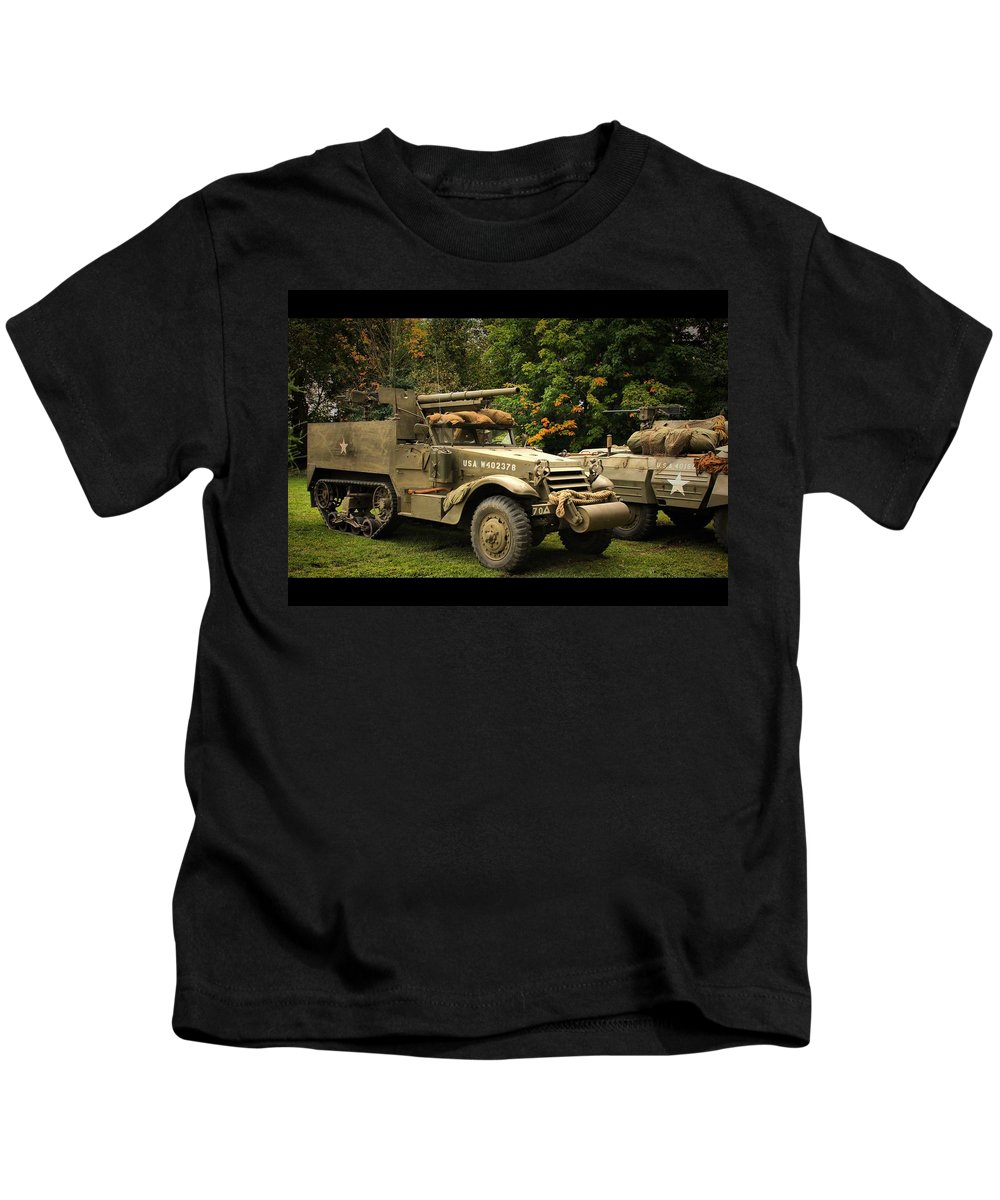 Armor Kids T-Shirt featuring the photograph Us Armor by Lyle Hatch