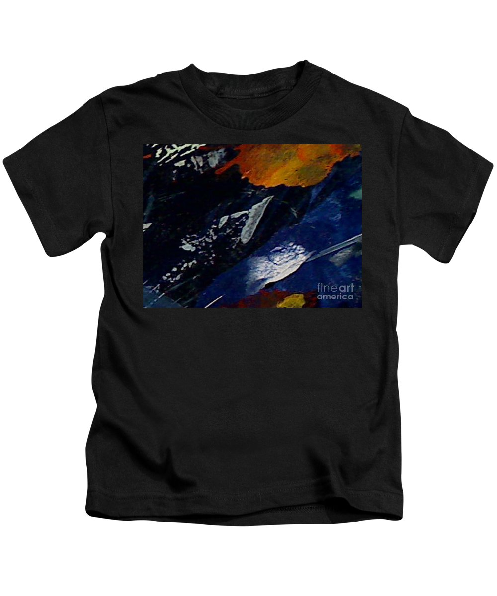 Abstract Kids T-Shirt featuring the painting Utopia by Mark Herman