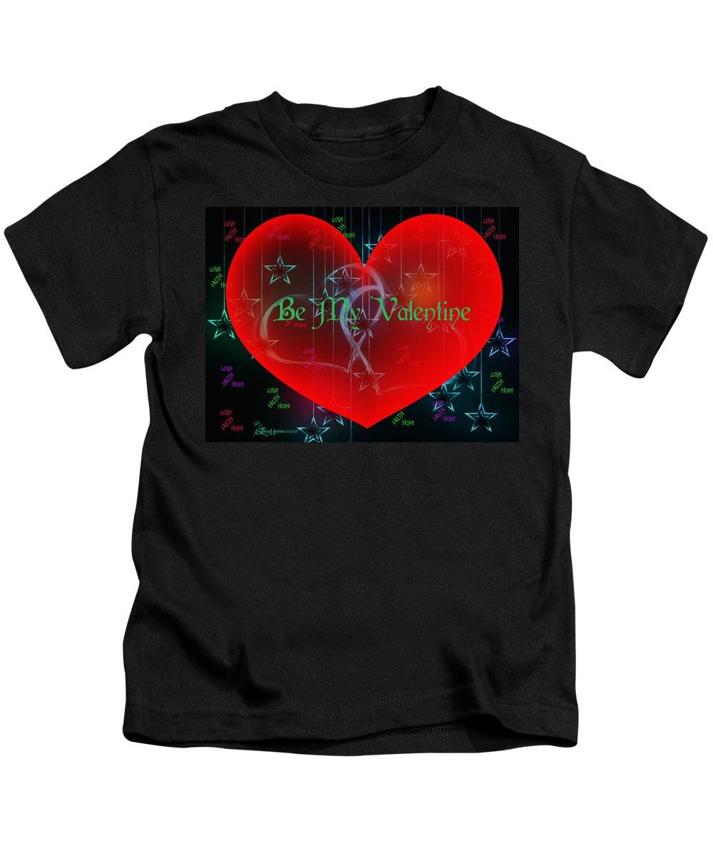 Valentine Kids T-Shirt featuring the digital art Valentine 4 by Ericamaxine Price