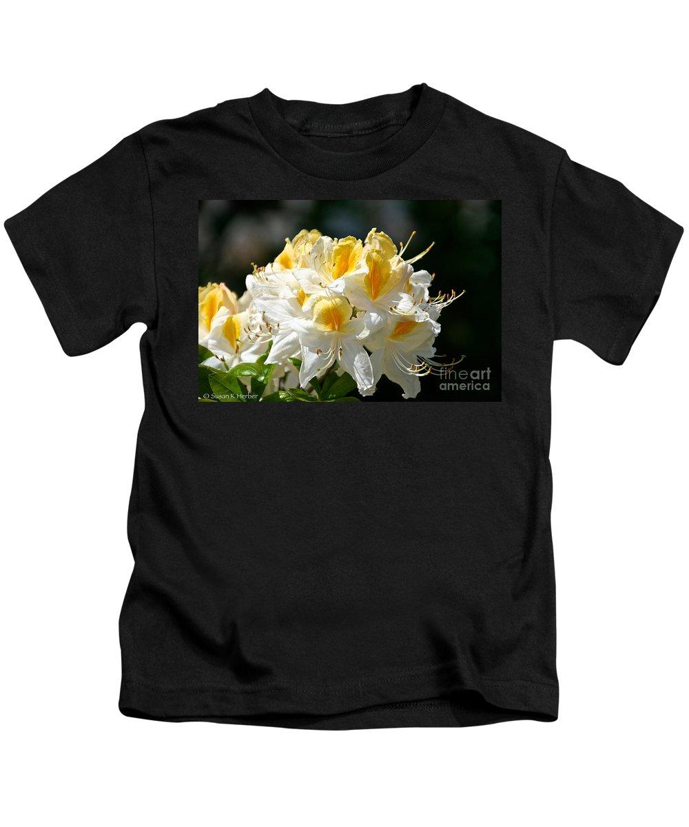 Flower Kids T-Shirt featuring the photograph Vanilla Butterscotch by Susan Herber