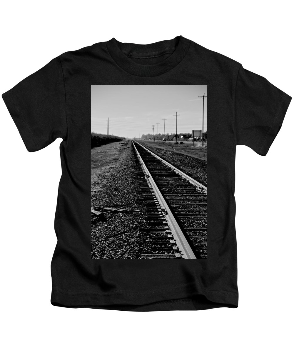 Railroad Kids T-Shirt featuring the photograph Vanishing Point by Eric Tressler