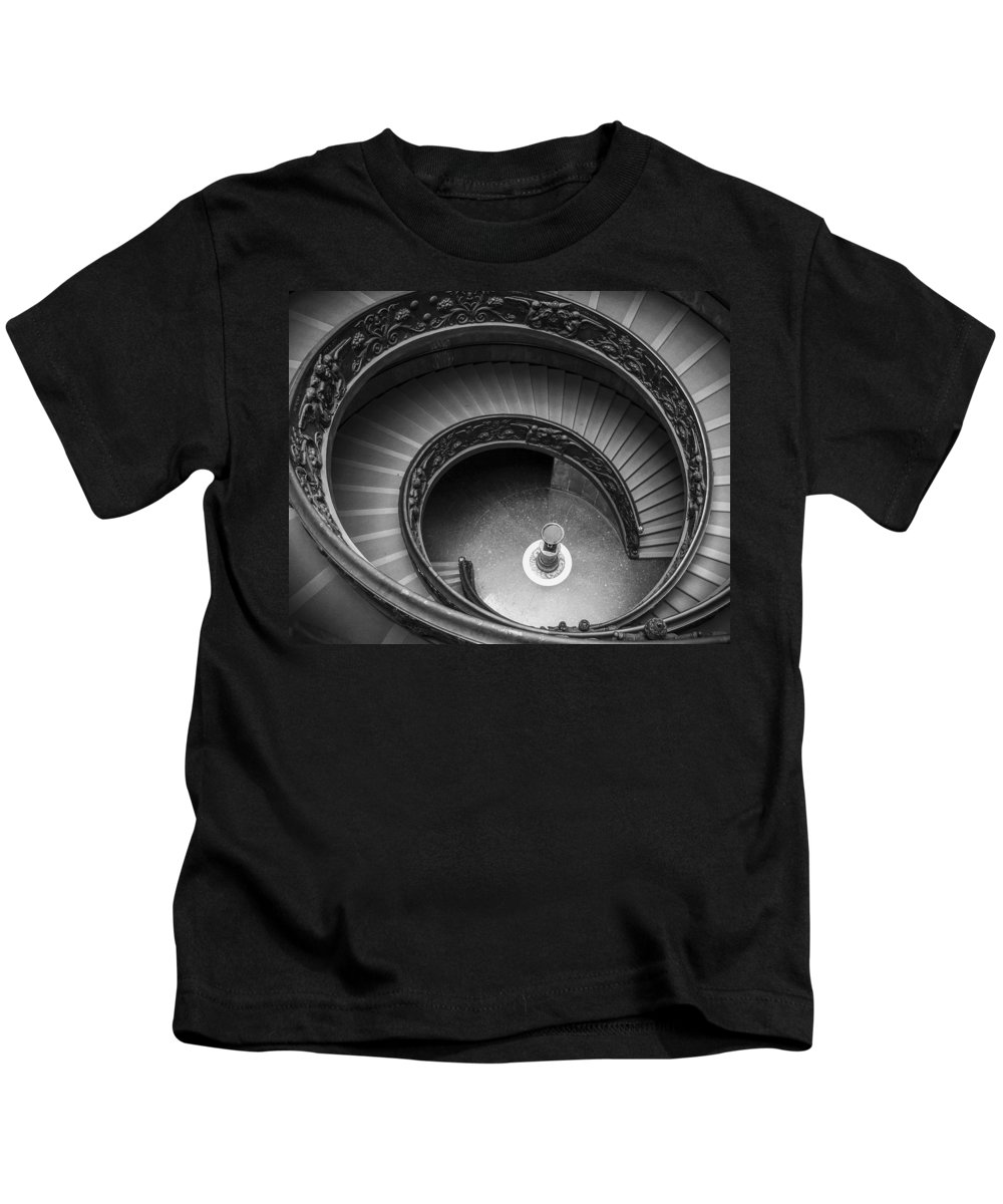 3scape Photos Kids T-Shirt featuring the photograph Vatican Stairs by Adam Romanowicz