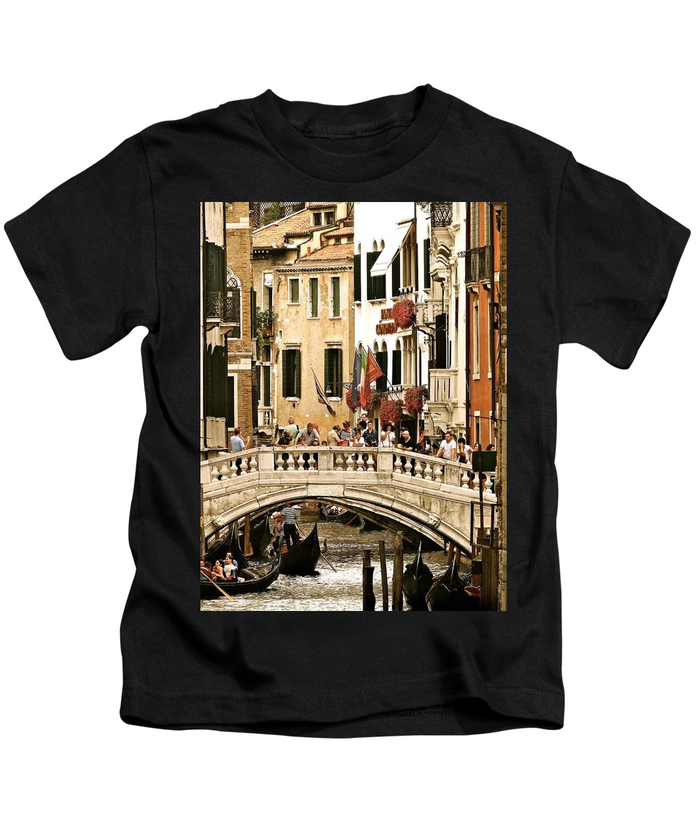 Venice Kids T-Shirt featuring the photograph Vegas Or Venice by Ira Shander