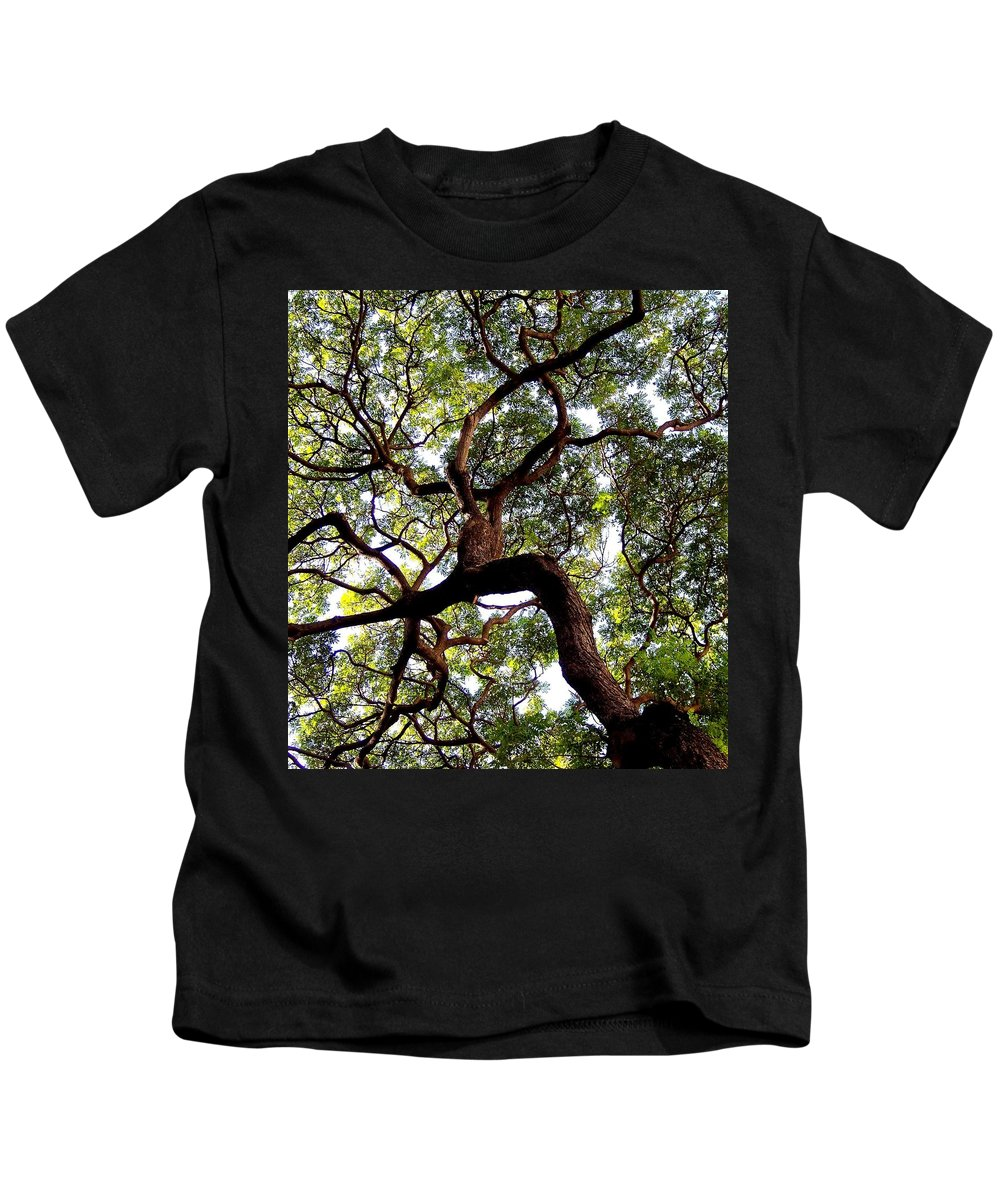 Trees Kids T-Shirt featuring the photograph Veins Of Life by Karen Wiles