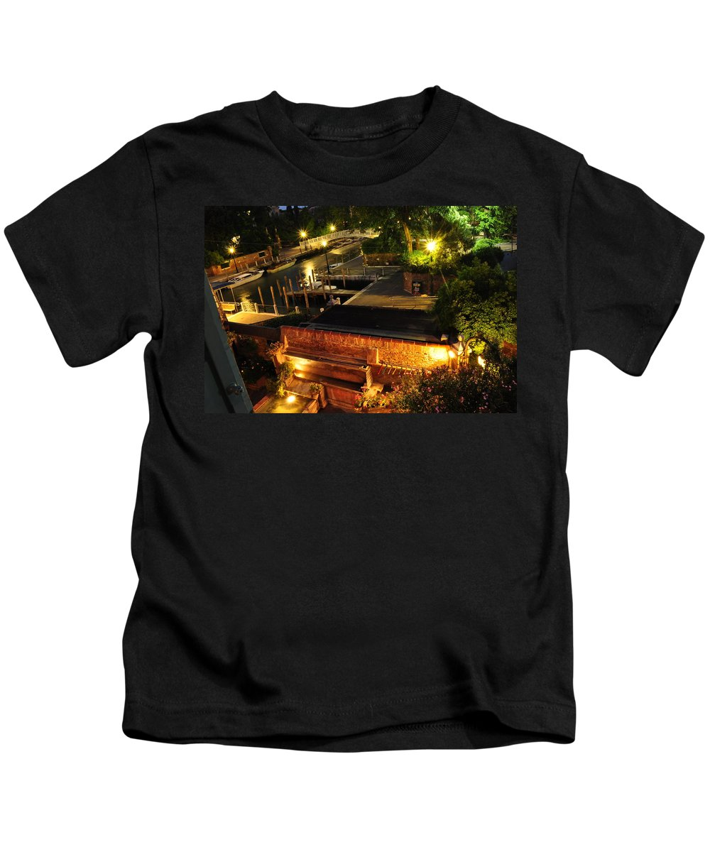 Santa Chiara Kids T-Shirt featuring the photograph Venetian Room With A View by Karen Maxwell