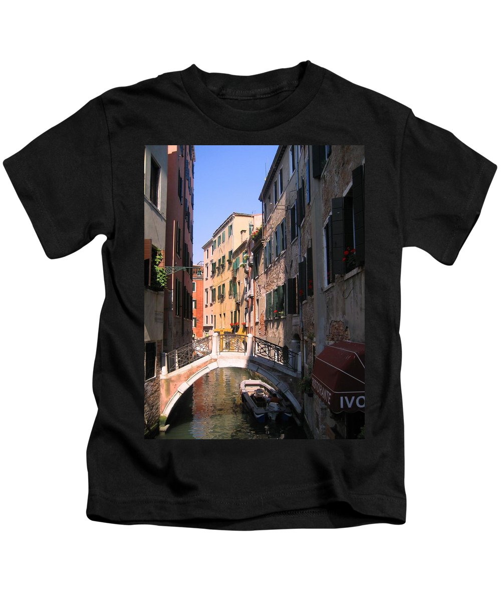 Venice Kids T-Shirt featuring the photograph Venice by Dany Lison
