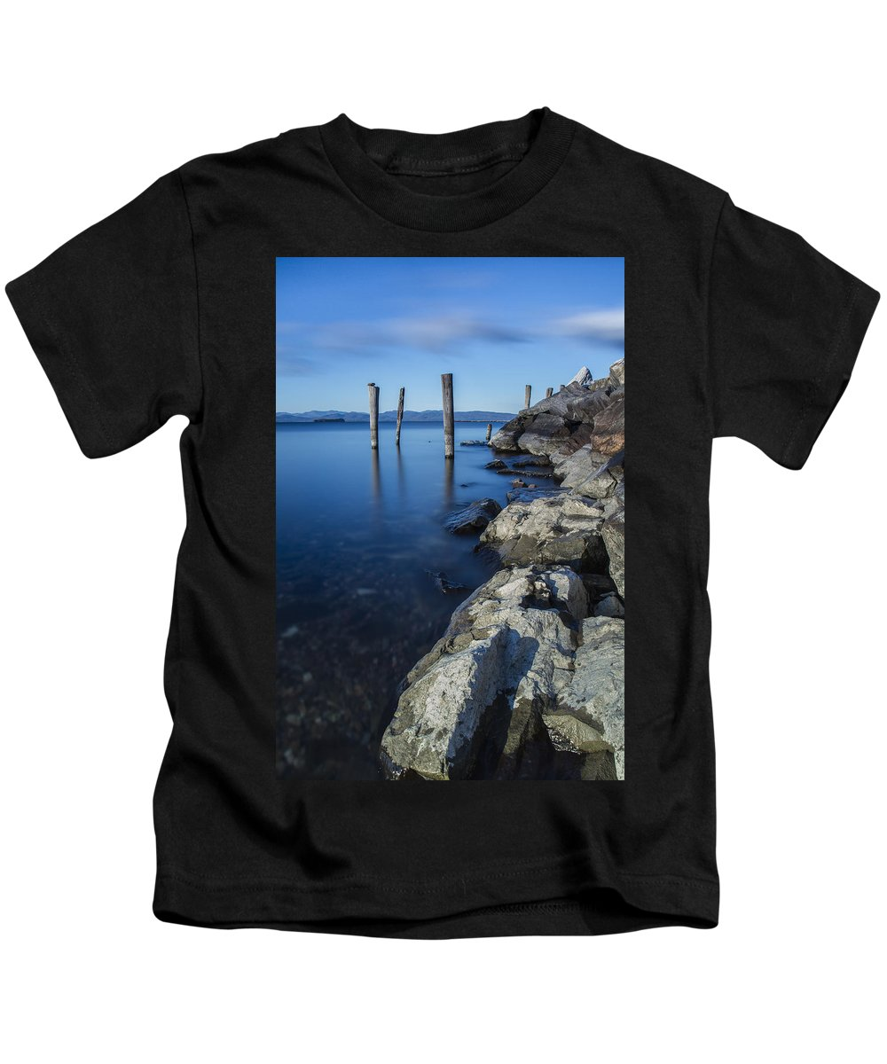 Vermont Kids T-Shirt featuring the photograph Vermont Lake Champlain Sunrise Burlington by Andy Gimino