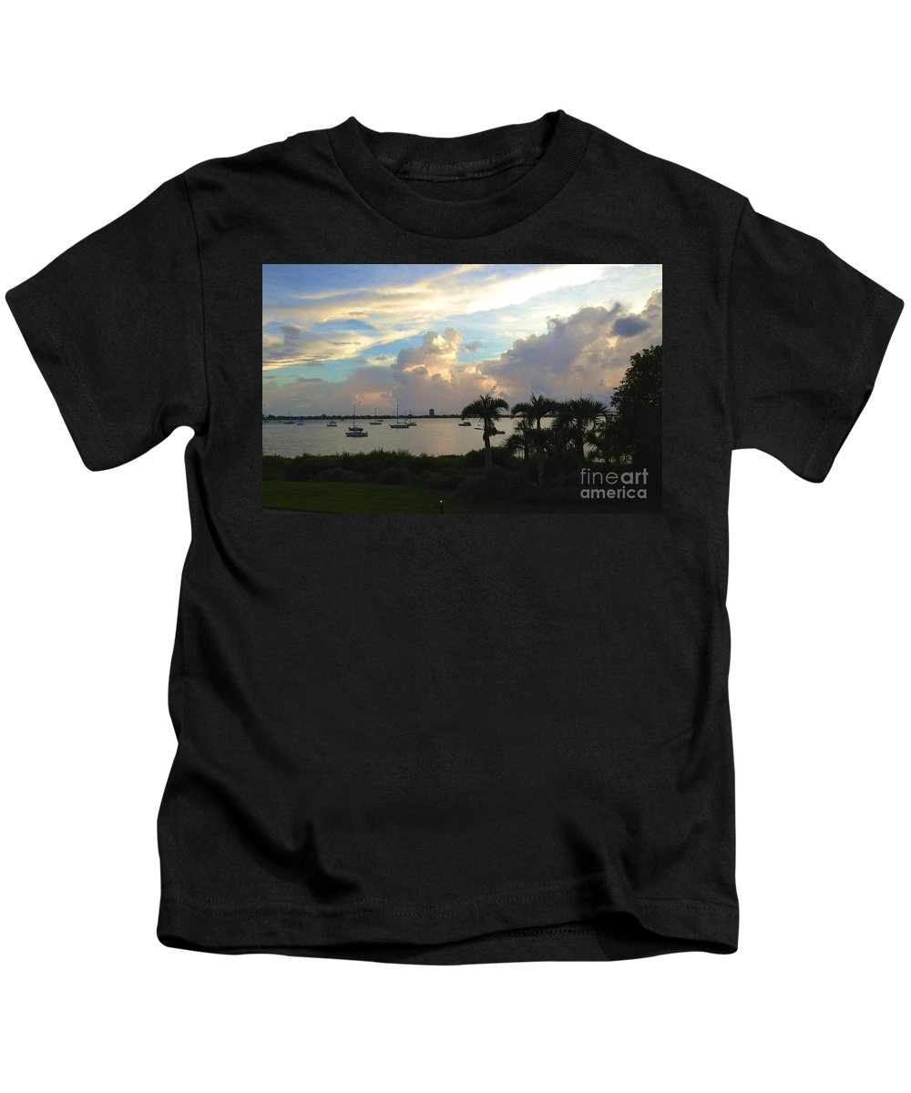 Vibrant Kids T-Shirt featuring the photograph Vibrant Sky by Christy Gendalia