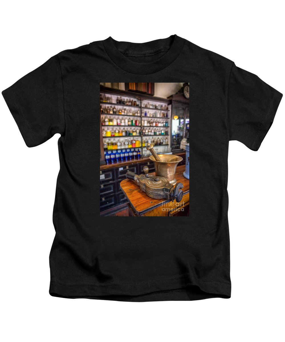 British Kids T-Shirt featuring the photograph Victorian Chemist Equipment by Adrian Evans