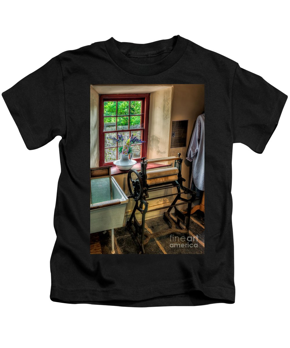 British Kids T-Shirt featuring the photograph Victorian Wash Room by Adrian Evans