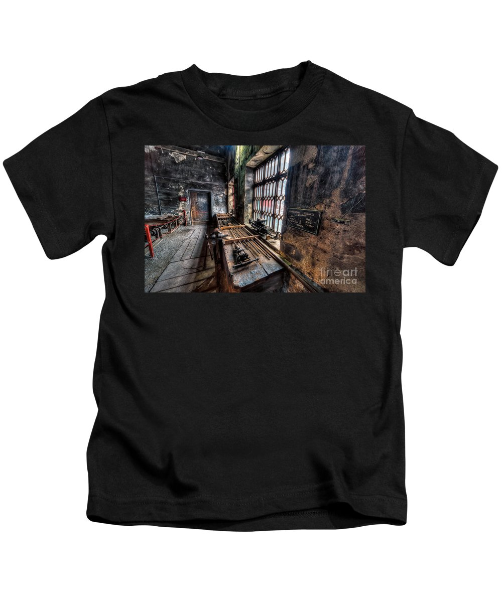 Architecture Kids T-Shirt featuring the photograph Victorian Workshops by Adrian Evans