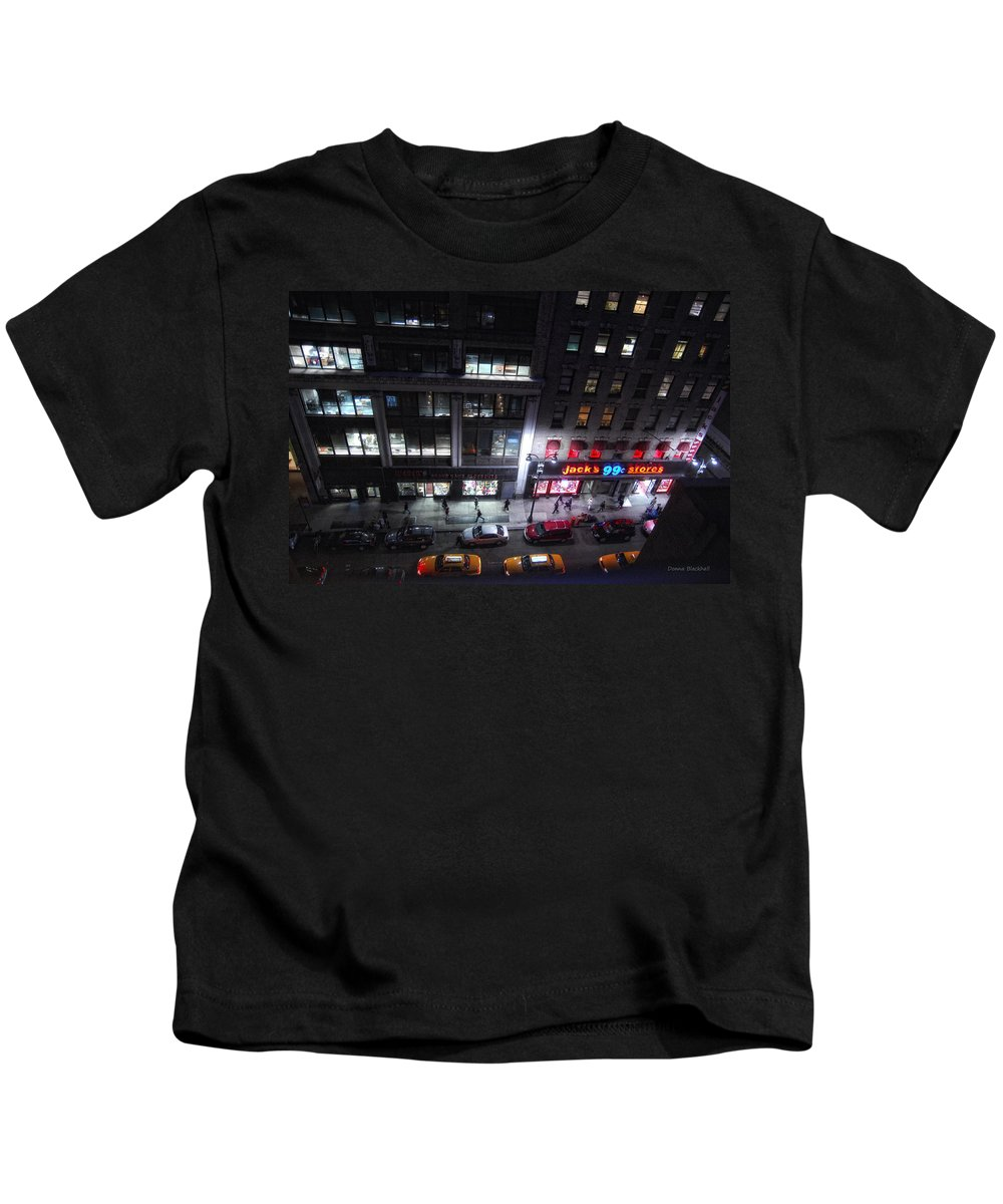 New York City Kids T-Shirt featuring the photograph View From The Top by Donna Blackhall