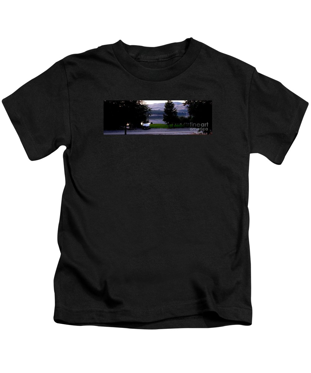 Art For The Wall...patzer Photography Kids T-Shirt featuring the photograph View To Columbia by Greg Patzer